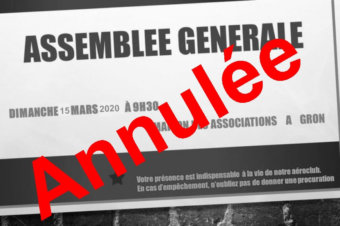 Annulation de l'Assemblée Générale 2020 du 15 mars 2020