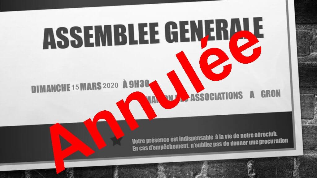 AG2020 annulée