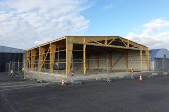 Quelques images du hangar en construction !