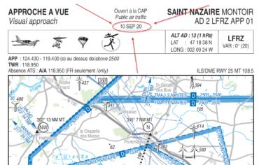 Publication d'une nouvelle carte VAC pour LFRZ (SAINT NAZAIRE MONTOIR)