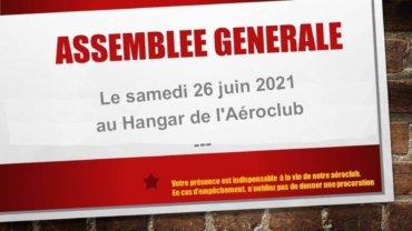 Assemblée Générale de l'Aéroclub de l'Estuaire – samedi 26 juin à partir de 9h30